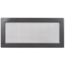 Решетка вентиляционная серебристо-черная, графитовая Dospel 17х37