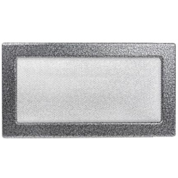 Решетка вентиляционная серебристо-черная, графитовая Dospel 17х30