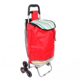 Тележка хозяйственная с сумкой и откидным стулом 008Т (90,5*37*56см, 6 колес) 945-887