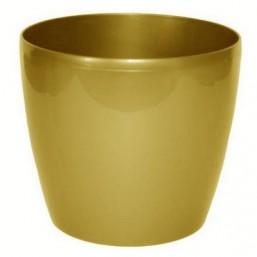 Горшок Магнолия 250мм, цвет золотой