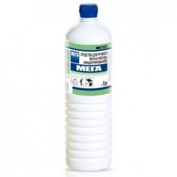 МЕГА 1л Средство для ручного мытья посуды и обезжиривания различных твердых поверхностей на кухне