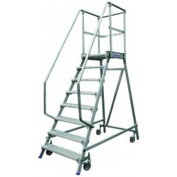 30220991 Передвижная лестница с платформой 6 ступ. H=2,45/1,45/3,45 820167