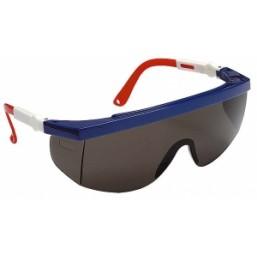Очки STAYER защитные с регулируемыми по длине и углу наклона дужками, поликарбонатные затемненные ли