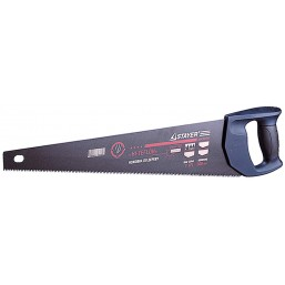 "Ножовка STAYER""MASTER""  ""HI-TEFLON"" по дереву, 2-комп пласт ручка, тефлон.покрыт, закал унив зуб, 7 TPI (3,5мм), 450 мм"
