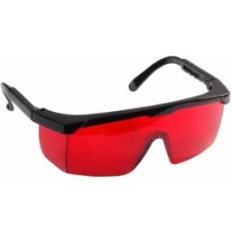 Очки STAYER защитные с регулируемыми по длине дужками, поликарбонатные красные линзы с оправой