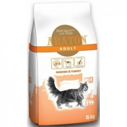 ARATON cat adult chicken&turkey 15kg