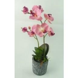 Искусственный цветок Орхидея розовая (91952)