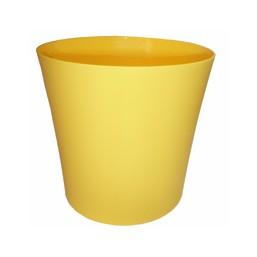 Горшок Фиалка 100мм без поддона, желтый