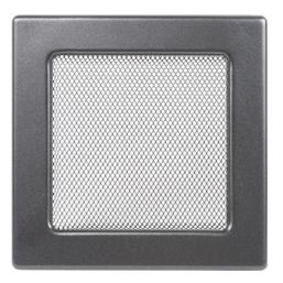 Решетка вентиляционная серебристо-черная, графитовая Dospel 22х22