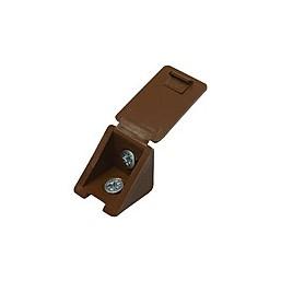 Уголок мебельный ЗУБР с шурупом, цвет дуб, 4,0x15мм, ТФ6, 4шт