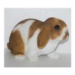 Садовая фигурка Длинноухий кролик коричнево-белый BJ112310V-5(Р2 С2)