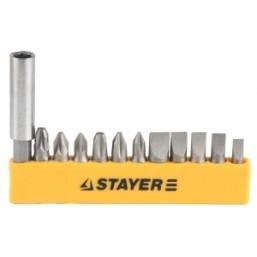 """Набор STAYER Биты """"MASTER"""" с магнитным держателем ,12 предметов"""