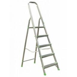 30216052 Ал. лестница-стремянка 5-х ступ, Н=1,03/3,10м  (Ам705) Алюмет