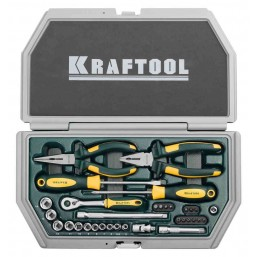"""Набор KRAFTOOL """"INDUSTRY"""" Слесарно-монтажный инструмент, 33 предмета"""