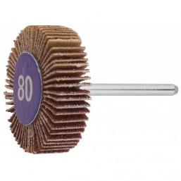 Круг ЗУБР веерный на шпильке, P 80, d 32x10x3,2 мм, L 45мм, 1шт