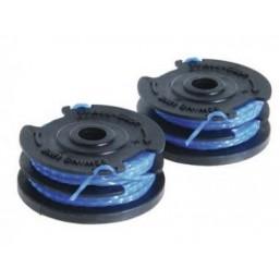 Катушка с леской для триммера 2х1.5 мм, синяя, рефленная, RLT4025