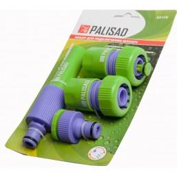 """Набор для подключения шланга 3/4"""" (распылитель, 3 адаптера) PALISAD 65179"""