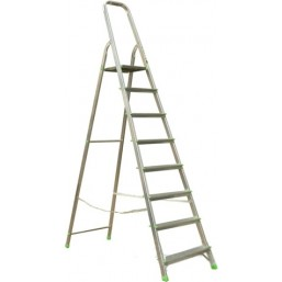 30216055 Ал. лестница-стремянка 8-х ступ, Н=1,66/3,70м  ( Ам708) Алюмет