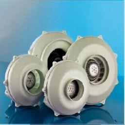 Проходной радиальный вентилятор (металлический) Dospel WK 125 пластик.