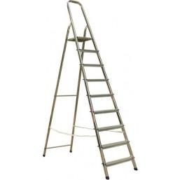 30216057 Ал. лестница-стремянка 10-х ступ, Н=2,08/4,10м  (Ам710) Алюмет