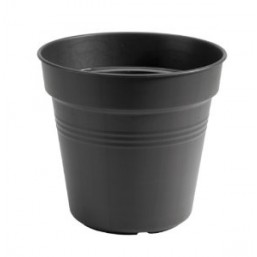 Горшок green basics growpot 13см black с поддоном saucer 10cm black