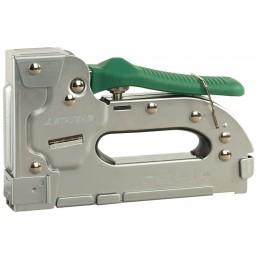 "Пистолет STAYER ""PROFI"" скобозабивной металлич пластинчатый, регулируемый, тип140, тип300: 10-16 мм,"