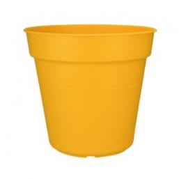 Горшок green basics growpot 30см yellow с поддоном saucer 25cm transparent
