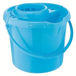 Ведро пластмассовое круглое с отжимом 12л, голубое ТМ Elfe  92964