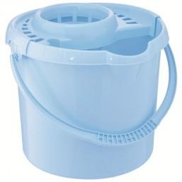 Ведро пластмассовое круглое с отжимом 9л, сиреневое ТМ Elfe  92960