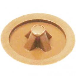 Заглушка декоративная ЗУБР под шуруп, цвет сосна, шлиц №2, ТФ6, 40шт