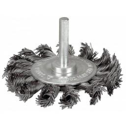 """Щетка ЗУБР """"ЭКСПЕРТ"""" дисковая для дрели, плетеные пучки стальной закаленной проволоки 0,5мм, 100мм"""