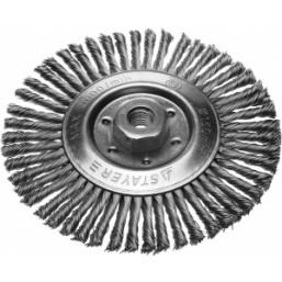 Щетка STAYER дисковая для УШМ, сплет в пучки стальн зак провол 0,5мм, 200мм/М14