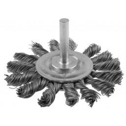 """Щетка ЗУБР """"ЭКСПЕРТ"""" дисковая 2-рядная для дрели, плетеные пучки стальной закаленной проволоки 0,5мм"""