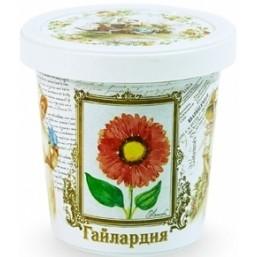 Гайлардия набор для выращивания ROSTOK VISA  (пласт. горшочек, обогощенный грунт, пакет с семенами)