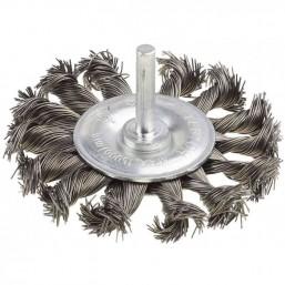 """Щетка STAYER """"MASTER"""" дисковая для дрели, плетёные пучки проволоки 0,5мм, 75мм"""