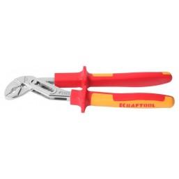 """Клещи KRAFTOOL """"ELECTRO-KRAFT"""", Cr-Mo сталь, двухкомпонентная рукоятка, хромированное покрытие, 250м"""