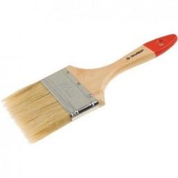 """Кисть плоская ЗУБР """"УНИВЕРСАЛ-СТАНДАРТ """", натуральная щетина, деревянная ручка, 63мм"""
