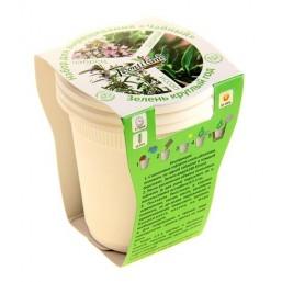 Чайный №2 (душица, чабрец, иссоп) набор для выращивания BONTILAND (3 стаканчика, 3 кокосовые таблетки, семена)