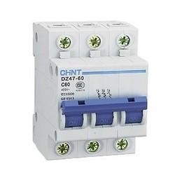 Автоматический выключатель DZ47 3P C 63 Chint