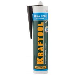 """Герметик KRAFTOOL KRAFTFLEX GX107 """"AQUA STOP"""" силиконовый стекольный, прозрачный, 300мл"""