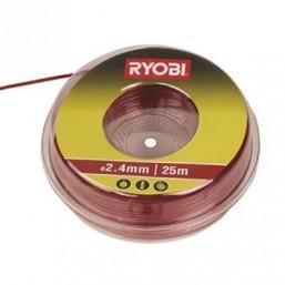 Леска для триммера 2.4 мм, 25 м, красная