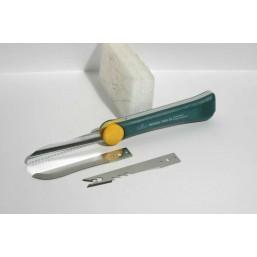 """Нож садовода RACO """"3-в-1"""", три сменных лезвия из нерж. стали, 265мм"""