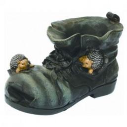 Горшок Ежик на черном ботинке HA9006-3S  GS