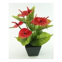 Искусственный цветок Антуриум красный (12915)