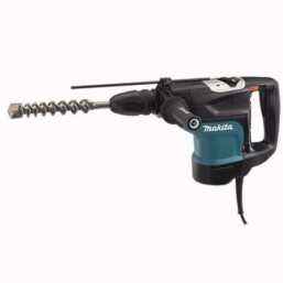Перфоратор SDS-MAX Makita HR4501C, 220В, 1350Вт, D45мм, 13Дж, 130-280 об/мин, 1250-2750 уд/мин, чемо