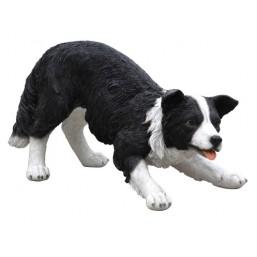Садовая фигурка Собака черно-белая большая BJ102217-V
