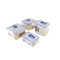 4546-S STAHLBERG Комплект герметичных пластиковых контейнеров для хранения продуктов 4шт (1250ml*2