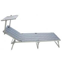 Кровать раскладная CW Monaco green (для пляжа и дачи с защитным козырьком от солнца, нагрузка 200кг (