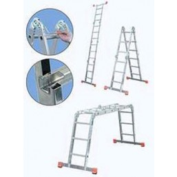 30210980 Ал. лестница шарнирная ММ 4х3 S  Н=3,55/4,70м  (120632) Krause