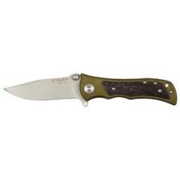 """Нож ЗУБР """"ПРЕМИУМ"""" СЛЕДОПЫТ складной универсальный, металлическая рукоятка с деревянными вставками,"""